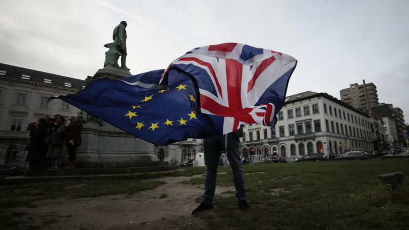 brexit vlajky eú británia