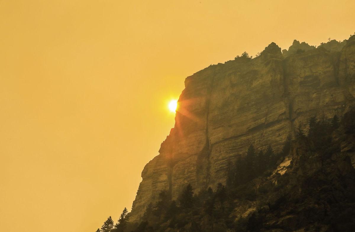 Colorado, oheň, skala, kaňon Glenwood Canyon, príroda