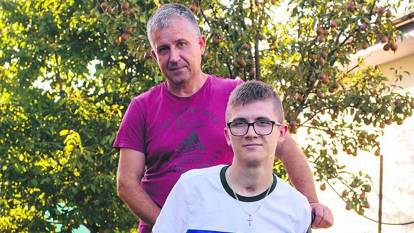 Miško, invalidný vozík, Billa, Chlebodarca