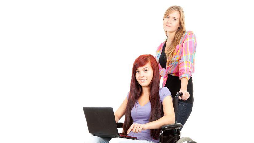 opatrovanie, invalidný vozík, dievča, ŤZP,...