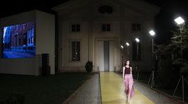 Maria Carla Boscono na prehliadke Salvatore Ferragamo