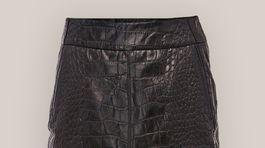 Kožená sukňa s efektom potlačen kože Kara, predáva sa za 260 eur.