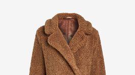 """Dámsky """"teddy"""" kabát Next, predáva sa za 72 eur."""