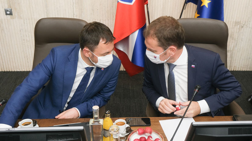 Eduard Heger a Igor Matovič