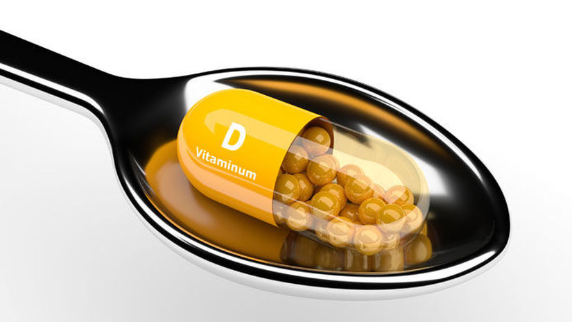 lyžica, liek, kapsula, vitamín D