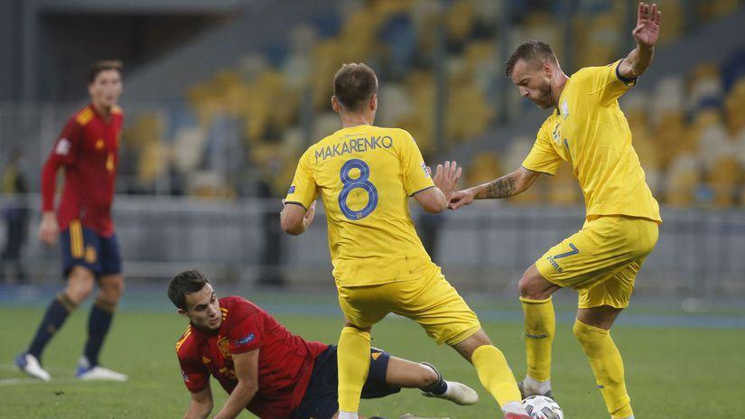 Ukrajina futbal Španielsko