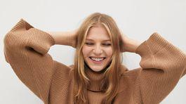 Dámsky sveter s rolákovým golierom Mango, predáva sa za 39,99 eura.