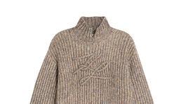 Pletený rolák s motívom logo písmena Karl Lagerfeld, info o cene v predaji.