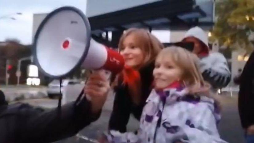 polícia, protest, deti, kecafón, bratislava