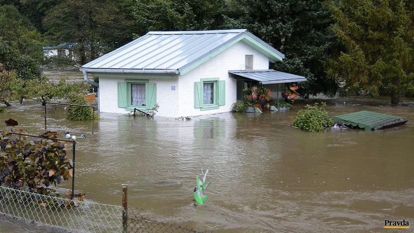 povodeň, dážď, záplavy, voda, Kysak
