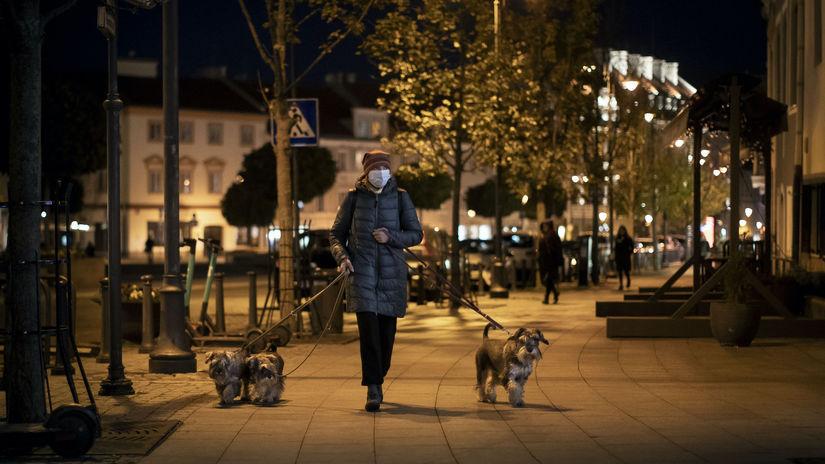 koronavírus, Litva. Vilnius