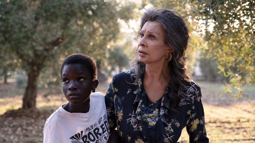 Herečka Sophia Loren a detský herec Ibrahim...