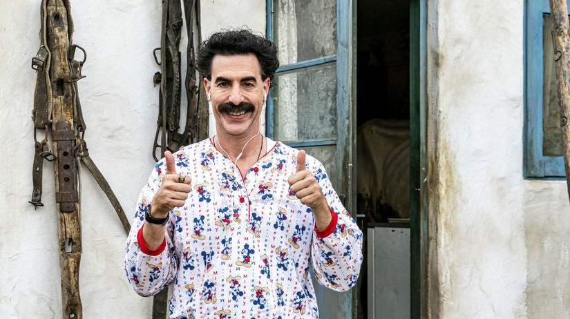 Herec Sacha Baron Cohenako Borat vo filme Borat...
