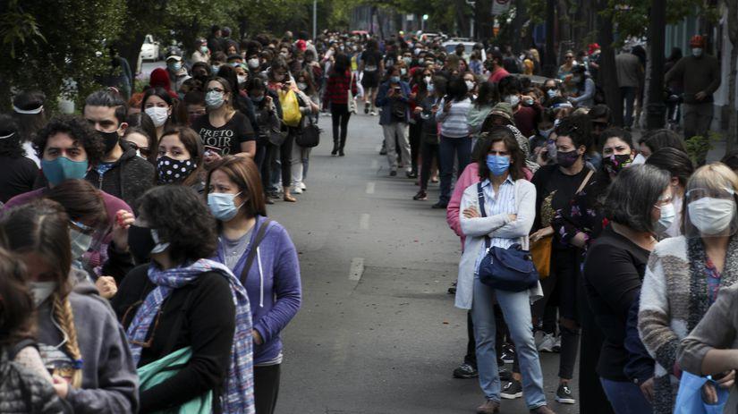Čile / Santiago / Referendum / Ústava / Rad /...
