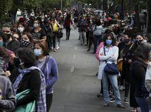 Čile / Santiago / Referendum / Ústava / Rad / Zástup / Ľudia /