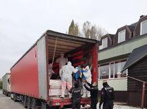 polícia, migranti, kamión