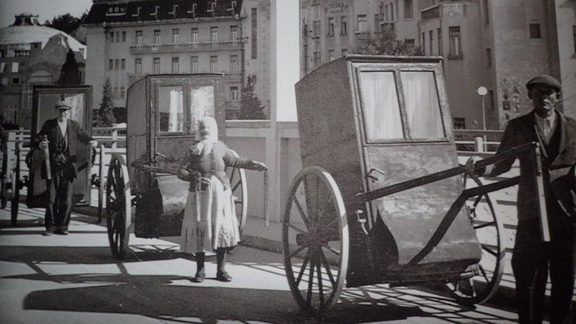rikša, Piešťany, kúpele, hotel Thermia,...