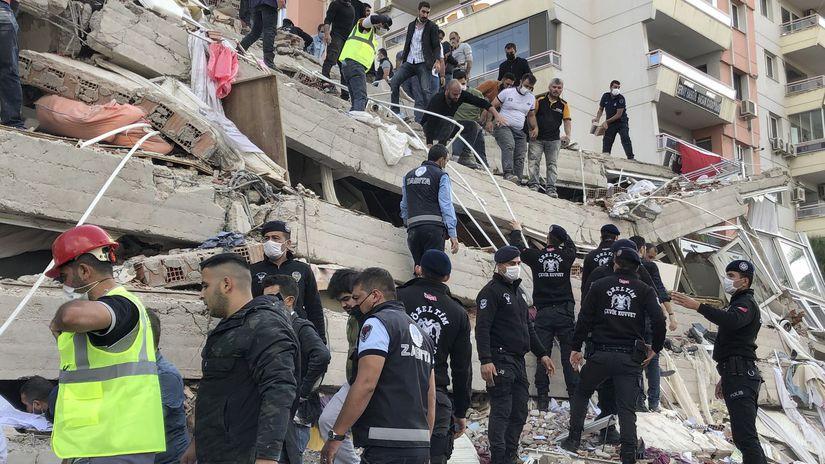 turecko zemetrasenie ruiny