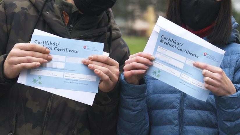 koronavírus, certifikát