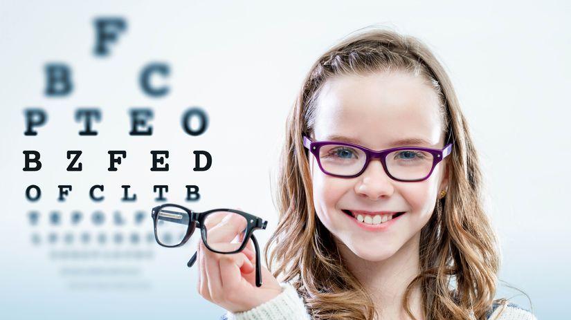 dieťa, okuliare, skúška, zrak, čítanie