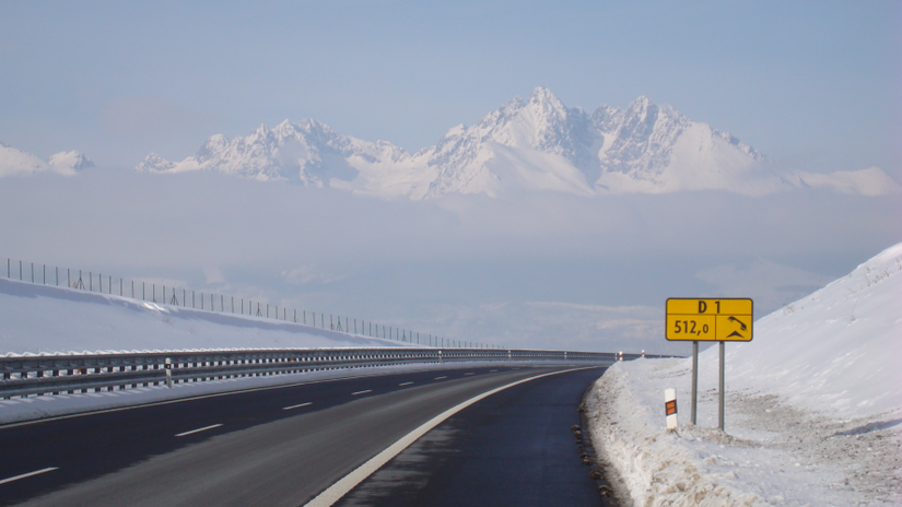 zima, cesta, zimná cesta