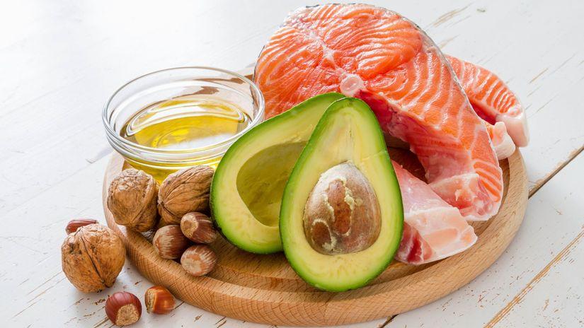 zdravá strava, orechy, ryba, avokádo