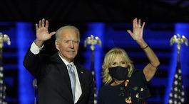 Nový americký prezident Joe Biden a jeho manželka Jill Biden.