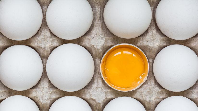 vajcia, vajíčka, žĺtok, škrupina
