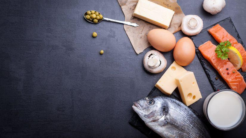 vitamín D, déčko, potraviny, ryba, losos,...
