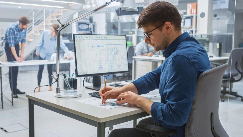 programovanie, muž, počítač, IT, písanie, práca
