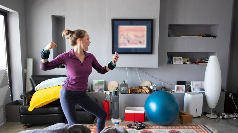 tréning, žena, cvičenie, tanec