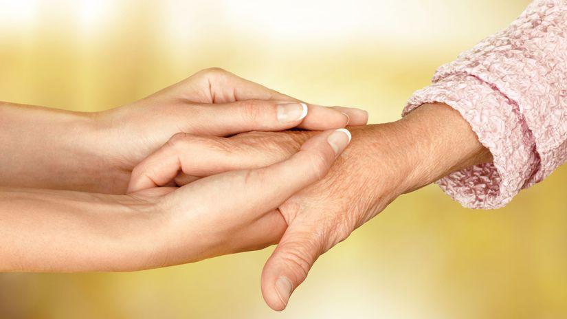 ruky, senior, opatrovanie, láska, pomoc