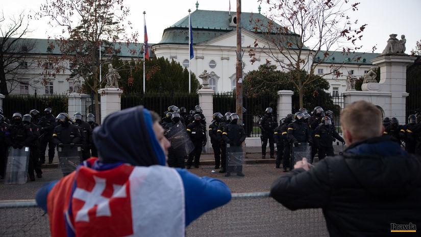 protest úrad vlády SR