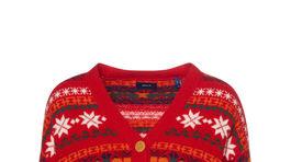 Dámsky sveter na zapínanie s nórskym vzorom GANT. Predáva sa za 249,90 eura.
