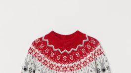Dámsky sveter s nórskym vzorom H&M. Predáva sa za 29,99 eura.