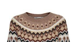 Dámsky sveter s nórskym vzorom Only. Predáva sa za 41 eur.