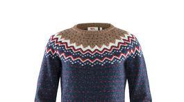 Dámsky sveter s variáciou nórskeho vzoru Fjällräven. Predáva sa za 154,95 eura.