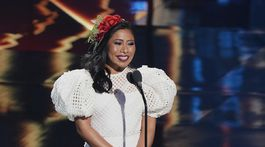 Herečka a moderátorka Yalitza Aparicio na vyhlásení cien Latin Grammy Awards.