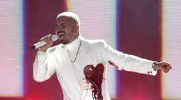 Reggaetonový spevák J Balvin vystúpil na vyhlásení cien Latin Grammy Awards.