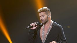Spevák Ricky Martin na vyhlásení cien Latin Grammy Awards.