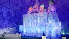 Tatranský ľadový dóm je tento rok inšpirovaný chrámom v Petrohrade
