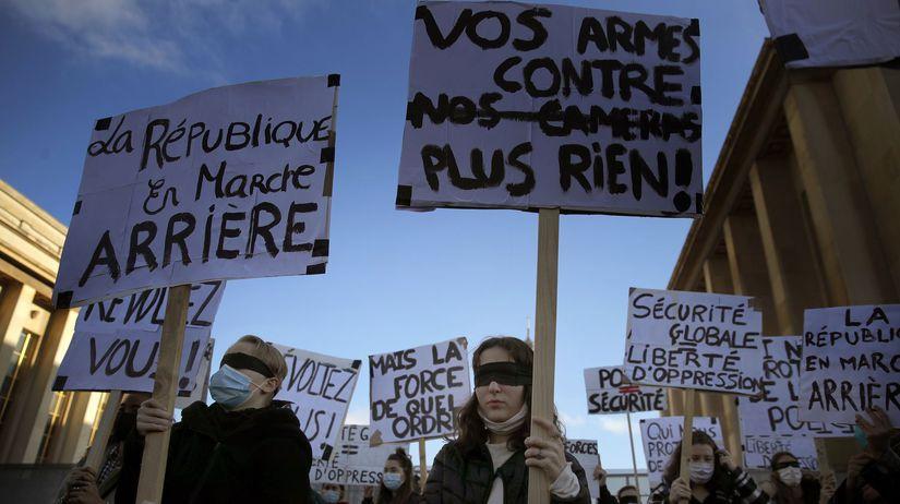 francúzsko protest demonštrácia
