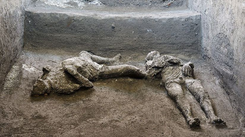Italy Pompeii Ancient Bodies