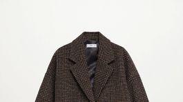 Dámsky kabát Mango, predáva sa za 99,99 eura.