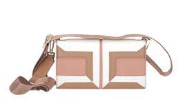 Obdĺžníková kabelka s geometrickým vzorom Elisabetta Franchi, info o cene v predaji.