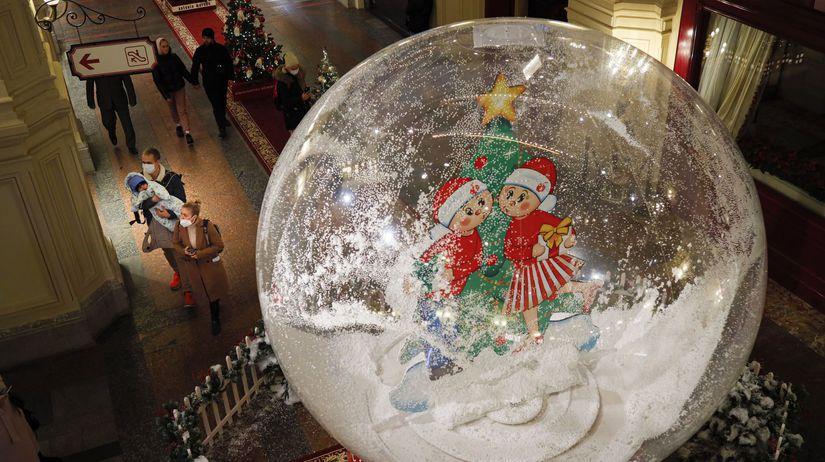 Rusko, Vianoce, Nový rok, koronavírus, Moskva