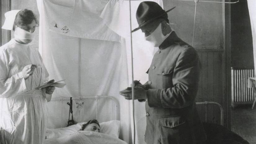 španielska chrípka, nemocnica, choroba, doktor,...