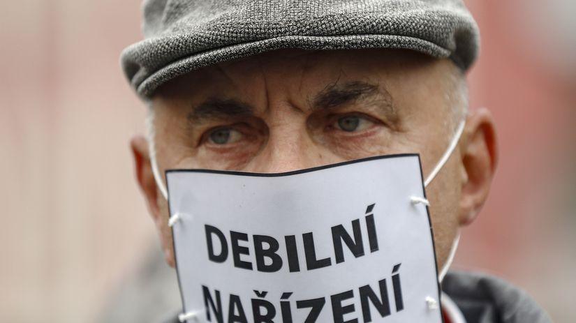 ČR koronavírus opatrenie protest