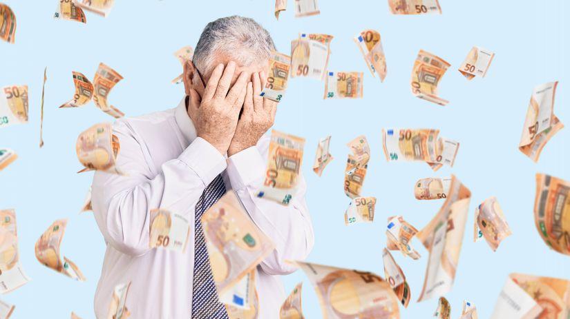 dôchodca, penzista, smútok, zúfalstvo, peniaze,...