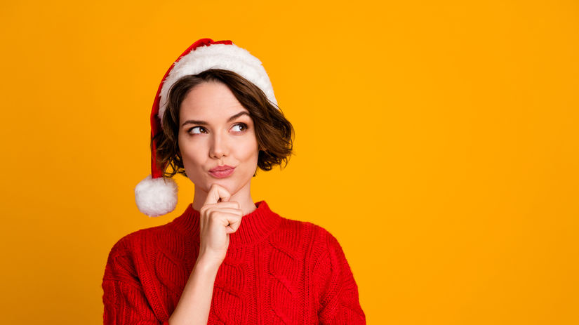 mikuláš, žena, vianoce, darček, úsmev, sviatky